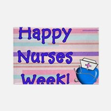 Happy Nurses Week Blue New Rectangle Magnet