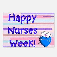 Happy Nurses Week Blue Ne Postcards (Package of 8)