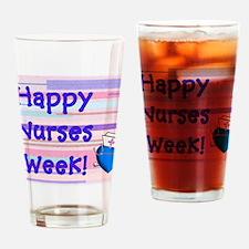 Happy Nurses Week Blue New Drinking Glass