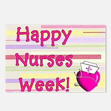 Happy Nurses week PINK NE Postcards (Package of 8)
