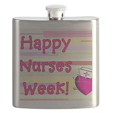 Happy Nurses week PINK NEW Flask