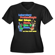 labweek2012 Women's Plus Size Dark V-Neck T-Shirt