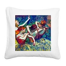 FF Degas 4Dancers Square Canvas Pillow