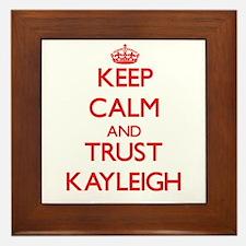 Keep Calm and TRUST Kayleigh Framed Tile