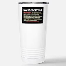 No Soliciting Definitions 3x5 Travel Mug