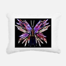 Butterfly Knives - Black Rectangular Canvas Pillow
