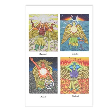 Four Archangels Postcards (Package of 8)
