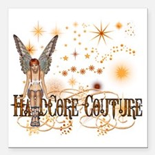 """FAIRY GOLD GIRL Square Car Magnet 3"""" x 3"""""""