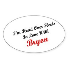 In Love with Bryon Oval Decal