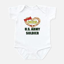 Proud Army Cousin Infant Bodysuit