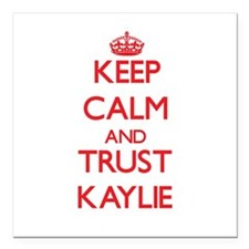"Keep Calm and TRUST Kaylie Square Car Magnet 3"" x"