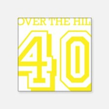 "over the hillyellow Square Sticker 3"" x 3"""