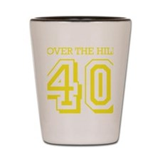 over the hillyellow Shot Glass