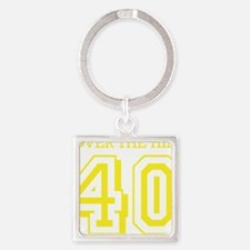 over the hillyellow Square Keychain