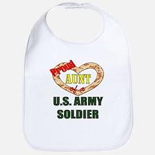Proud Army Aunt Bib