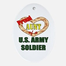 Proud Army Aunt Oval Ornament
