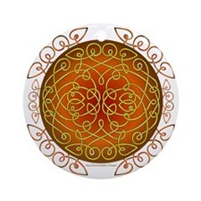 Celtic Art Curls Harvest Round Ornament