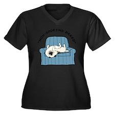 nonsportingd Women's Plus Size Dark V-Neck T-Shirt
