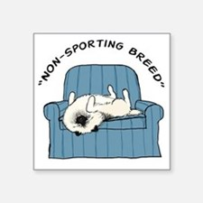 "nonsportingdrk2 Square Sticker 3"" x 3"""