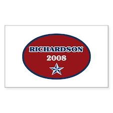 Bill Richardson 2008 Rectangle Decal