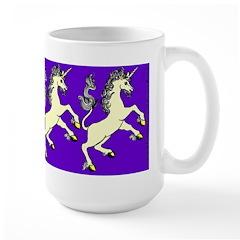 Challenge! Rearing Unicorn Large Mug
