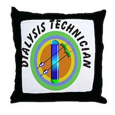 dialysis tech 2 emblem Throw Pillow