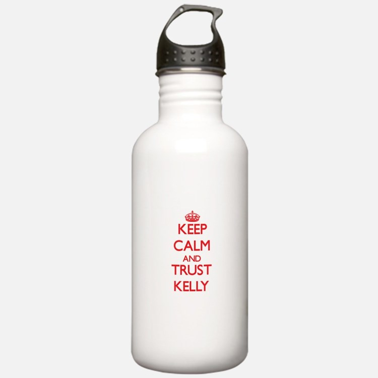 Keep Calm and TRUST Kelly Water Bottle