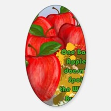 ONE-BAD-APPLE-16x20-SMALL-POSTER-_p Sticker (Oval)