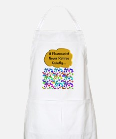 A pharmacist never retires quietly Apron