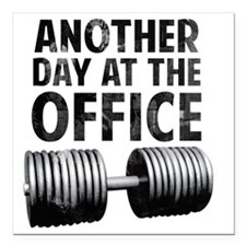 """another-day-in-the-offic Square Car Magnet 3"""" x 3"""""""