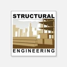 "Structural_Engineering_Cons Square Sticker 3"" x 3"""