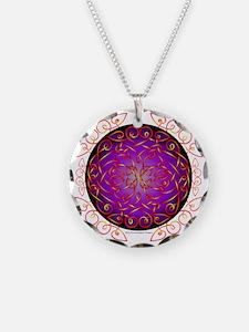 Celtic Art Curls Purple Fire Necklace