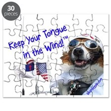 Chewy Keeps His Tongue in the Wind for God  Puzzle