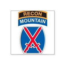 10th Mountain Div with Recon Rectangle Sticker