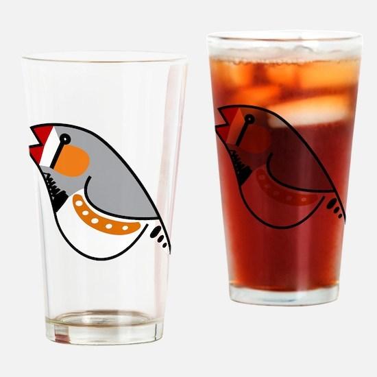 zebtoon-trans Drinking Glass