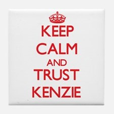 Keep Calm and TRUST Kenzie Tile Coaster
