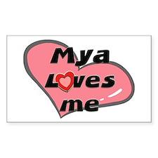 mya loves me Rectangle Decal