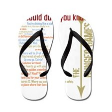 we could do it you know with quotes hun Flip Flops
