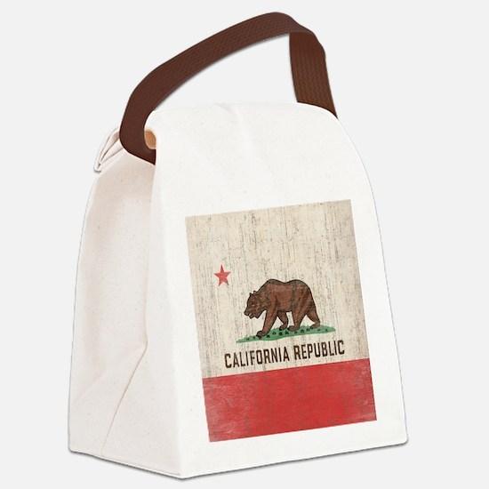 VintageCaliforniaRe1SC Canvas Lunch Bag