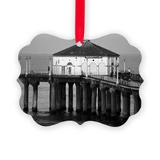 Manhattan beach pier Ornament