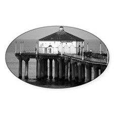 Manhattan beach pier Decal