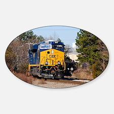 CSX Train 1 Sticker (Oval)
