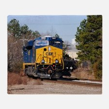 CSX Train 1 Throw Blanket
