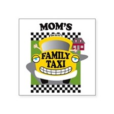"familytaxiMOMK Square Sticker 3"" x 3"""