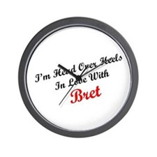 In Love with Bret Wall Clock