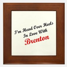 In Love with Brenton Framed Tile