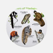 Lemurs of Madagascar Round Ornament