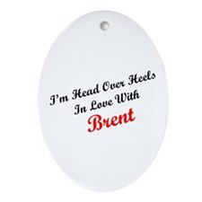 In Love with Brent Oval Ornament