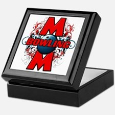 Bowling Mom (cross) copy Keepsake Box