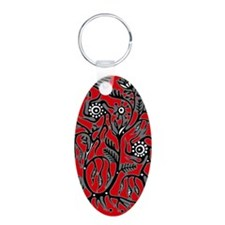 Untitled-1 Aluminum Oval Keychain